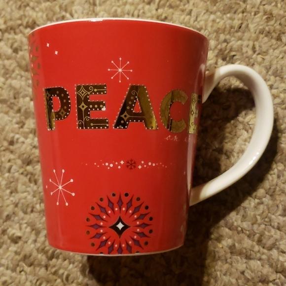 Starbucks Peace mug Holiday 2006